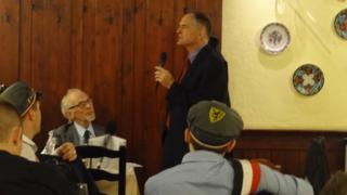 Jared Taylor addressing far-right supporters in Budapest