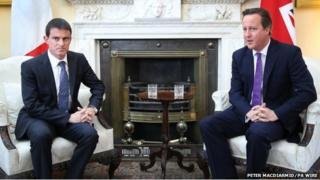 David Cameron and Manuel Valls in Downing Street