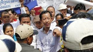 Cambodian teachers' protest