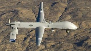 A US Air Force MQ-1 Predator unmanned aircraft (file photo)