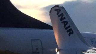 Part of wingtip broken off