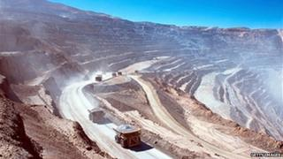 Open mining in Chile