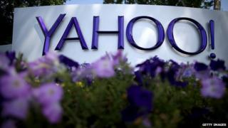 A Yahoo sign at its headquarters in California.