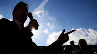 Ed Miliband campaigning