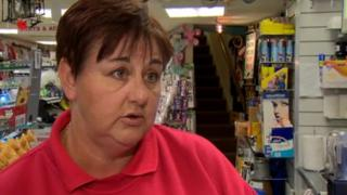 Shop owner Adrine Millar said the closure of the cigarette factory would be a devastating blow to the town