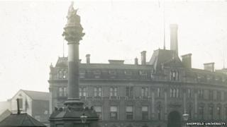 Crimean War memorial in Sheffield