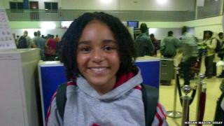 Kofi Mason-Sesay at the airport