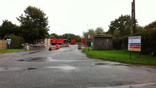 Entrance to Heinz Westwick factory in North Walsham