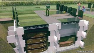 Artist's impression of modular burial system
