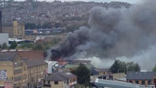 Fire in Norcroft Street, Bradford