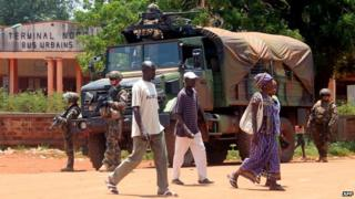 French troops in Bangui