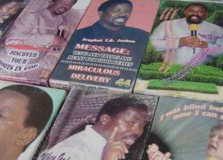 Books by TB Joshua in undated photo.