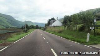 An A83 faisg air a' Chàrn Dubh.