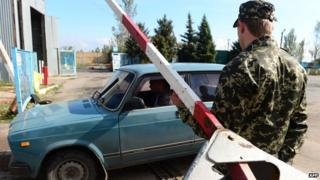 Russia-Ukraine border, controlled by rebels, at Uspenka - file epic