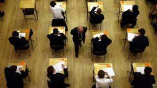 Pupils taking GCSE