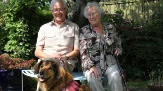 Mr and Mrs Middleton and dog Joker