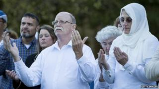 Ed and Paula Kassig attended a vigil for their son, Peter Kassig, in Indianapolis, Indiana, on 8 October 2014
