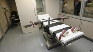 The death chamber in Oklahoma