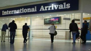 Gatwick Airport arrivals