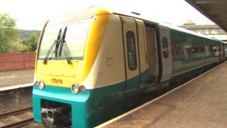 Arriva Trains Wales train at Bangor, Gwynedd station