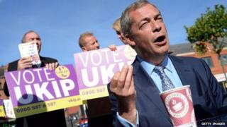 Nigel Farage campaigning in Heywood and Middleton