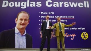 UKIP's Douglas Carswell and party leader Nigel Farage