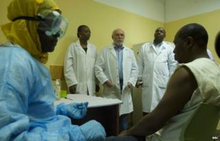 Mali volunteers in a clinical trial testing a new Ebola vaccine in Mali 10 October 2014