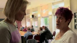 BBC Inside Out presenter Diane Oxberry talks to Joy Watson who has young onset dementia