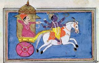 A depiction of Mahabharat