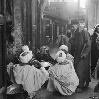 Moroccan souk circa 1950
