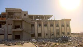 Bombed hospital in Rabia