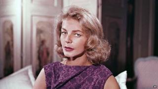 Lauren Bacall, pictured in 1965