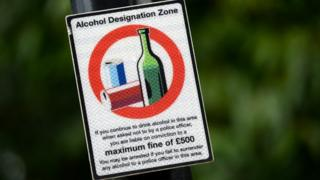 Alcohol restriction sign
