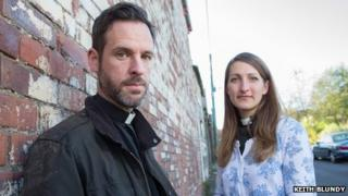 Trainee vicars Michael Volland and Emma Parker