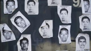 Printouts of missing Mexican students, 9 Oct 14
