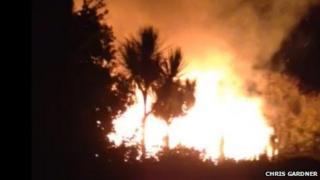 Royal Cliff Hotel fire in Sandown
