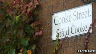 Cooke Street sign