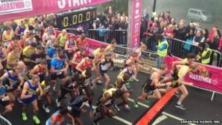 Yorkshire marathon runners