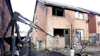 Newtownabbey arson house