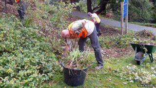 Gardeners at Plas Tan y Bwlch