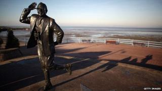 The statue of Eric Morecambe