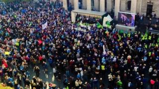 Water charges protest