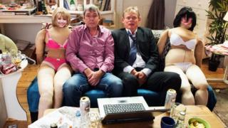 Neil Morrissey and Martin Clunes as Tony and Gary