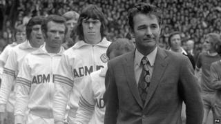 Brian Clough with Leeds United in 1974