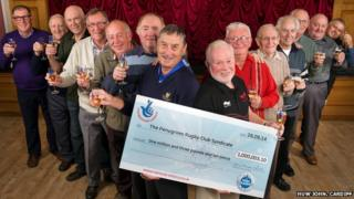The Penygroes Rugby Club lottery syndicate winners