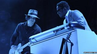 Jack White with Isaiah Owens (right)