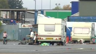 Travellers on Derby's Cattle Market site