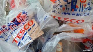 Tesco bags