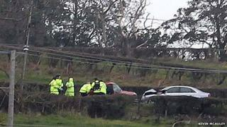 Coleraine accident scene