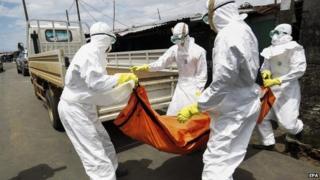 Ebola victim in Liberia, 15 Oct